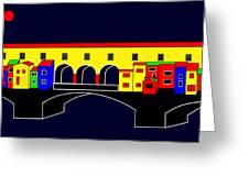 Ponte Vecchio Inspirations Greeting Card by Asbjorn Lonvig
