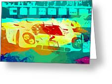 Porsche 917 Watercolor Greeting Card by Naxart Studio