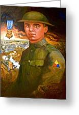 Portrait Of Corporal Roberts Greeting Card by Dean Gleisberg