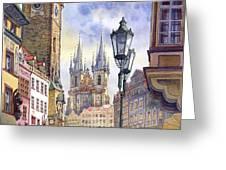 Prague Old Town Square 01 Greeting Card by Yuriy  Shevchuk