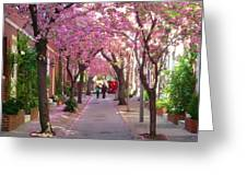 Prettiest Street In Philadelphia Greeting Card by Andrew Dinh