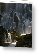 Ramona Falls Oregon Greeting Card by Ulrich Burkhalter