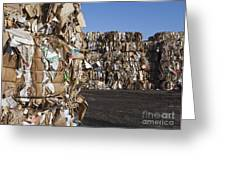 Recycling Facility Greeting Card by Paul Edmondson