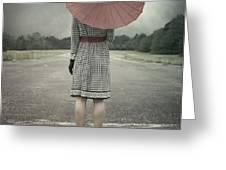 red umbrella Greeting Card by Joana Kruse