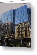 Reflections Of Montreal Greeting Card by Reb Frost