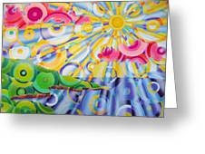 Refractions Greeting Card by Betsy Jones