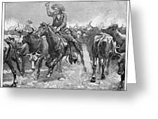 REMINGTON: COWBOYS, 1888 Greeting Card by Granger