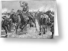 Remington: Cowboys, 1888 Greeting Card by Granger