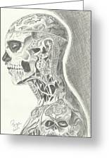 Rick Genest Greeting Card by Priya Paul