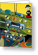 Road Trip '69 Greeting Card by Ron Magnes