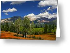 Rocky Mountains Greeting Card by Mark Smith