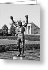 Rocky Statue - Philadelphia Greeting Card by Brendan Reals