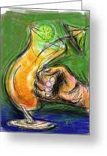 Rum Punch Greeting Card by Russell Pierce