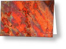 Rust Abstract Greeting Card by Carol Groenen