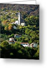 Sacre Monte Di Ossucio Greeting Card by Chuck Parsons