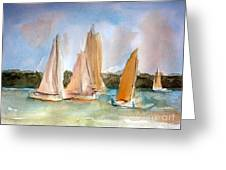 Sailing Greeting Card by Julie Lueders
