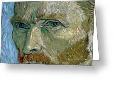 Self-portrait Greeting Card by Vincent Van Gogh