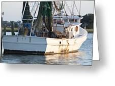 Shrimp Boat Greeting Card by Dustin K Ryan