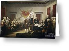 Signing The Declaration Of Independence Greeting Card by John Trumbull