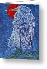 Snow Bird Greeting Card by Shahid Muqaddim