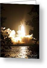 Space Shuttle Endeavour Liftoff Greeting Card by Stocktrek Images