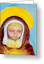 St. Clare Of Assisi Greeting Card by Susan  Clark