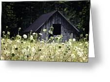 Summer Barn Greeting Card by Rob Travis