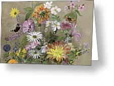 Summer Flowers Greeting Card by John Gubbins