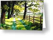 Sunday Afternoon Greeting Card by Dale Ziegler