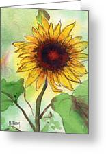 Sunflower Greeting Card by MaryAnn Cleary