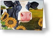 Sunflower Sally Greeting Card by Laura Carey
