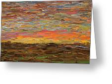 Sunset Greeting Card by James W Johnson