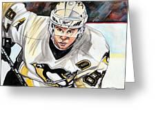 Sydney Crosby Greeting Card by Dave Olsen
