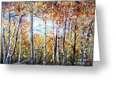 Tetons In Autumn Greeting Card by Patricia Pushaw