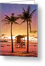 The Beach Greeting Card by Debra and Dave Vanderlaan
