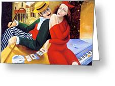 The Date Greeting Card by Igor Postash