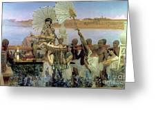 The Finding Of Moses Greeting Card by Sir Lawrence Alma Tadema