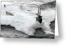The Los Angeles-class Fast Attack Greeting Card by Stocktrek Images