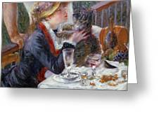The Luncheon Of The Boating Party Greeting Card by Pierre Auguste Renoir