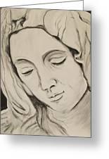 The Madonna Greeting Card by Jean Billsdon