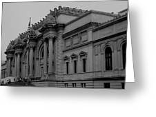 The Metropolitan Museum of Art Greeting Card by Christopher Kirby