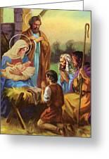 The Nativity Greeting Card by Valer Ian