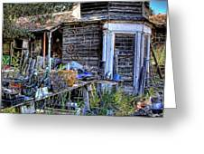 The Old Shed Greeting Card by David Patterson