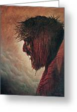 The Passion Greeting Card by Karen Barton