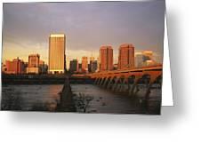 The Richmond, Virginia Skyline Greeting Card by Medford Taylor
