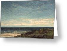 The Sea Greeting Card by Gustave Courbet