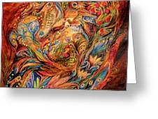 The Tale About Fiery Rooster Greeting Card by Elena Kotliarker