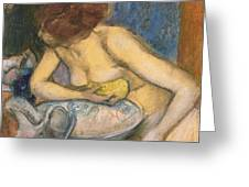 The Toilet Greeting Card by Edgar Degas