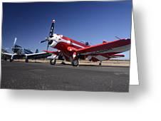 Thompson Trophy Goodyear F2g Corsair Reunion Falcon Field Arizona December 27 2011 Greeting Card by Brian Lockett