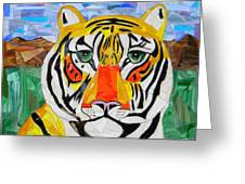 Tiger Greeting Card by Charles McDonell
